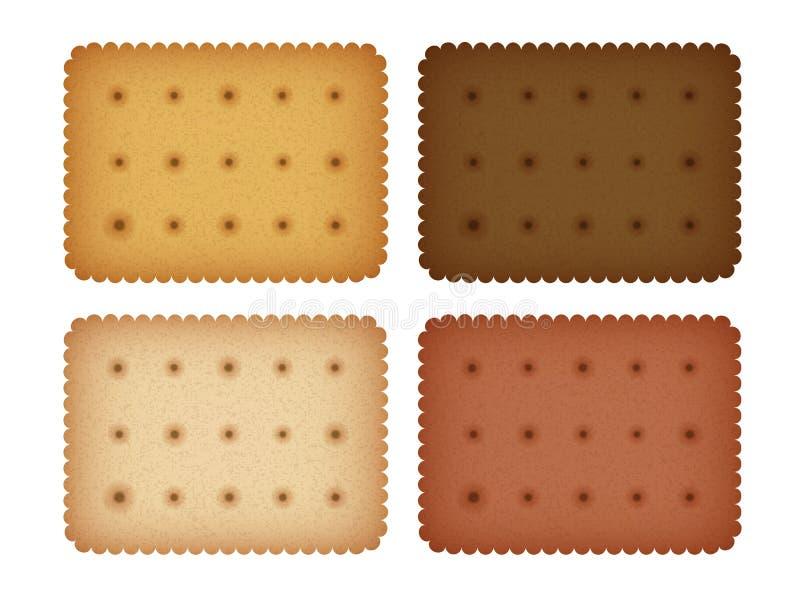 Coleção do biscoito do biscoito do biscoito ilustração stock