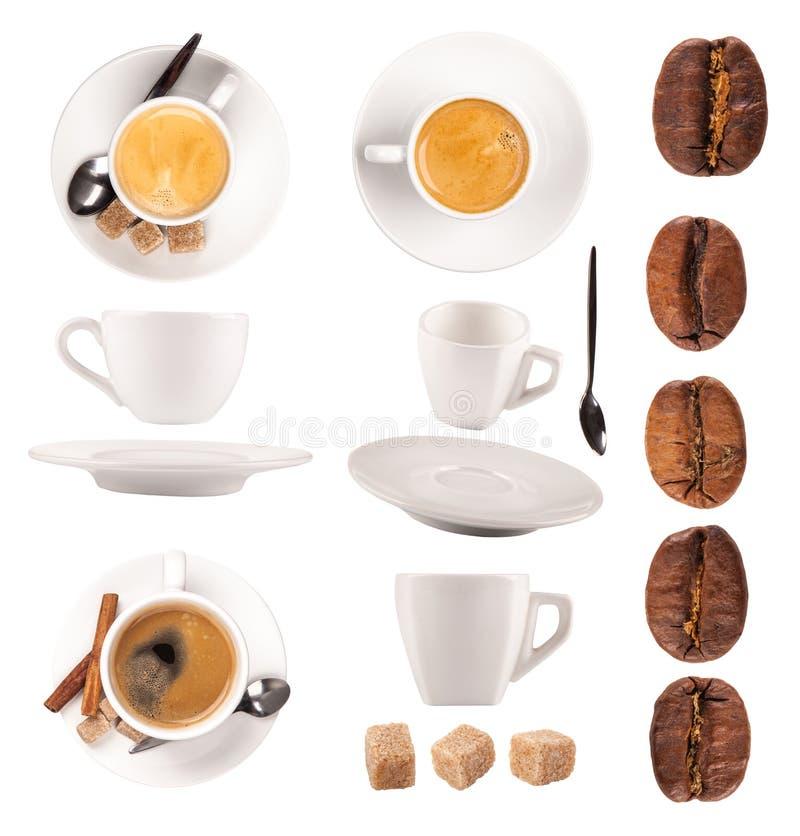 Coleção do café imagem de stock royalty free