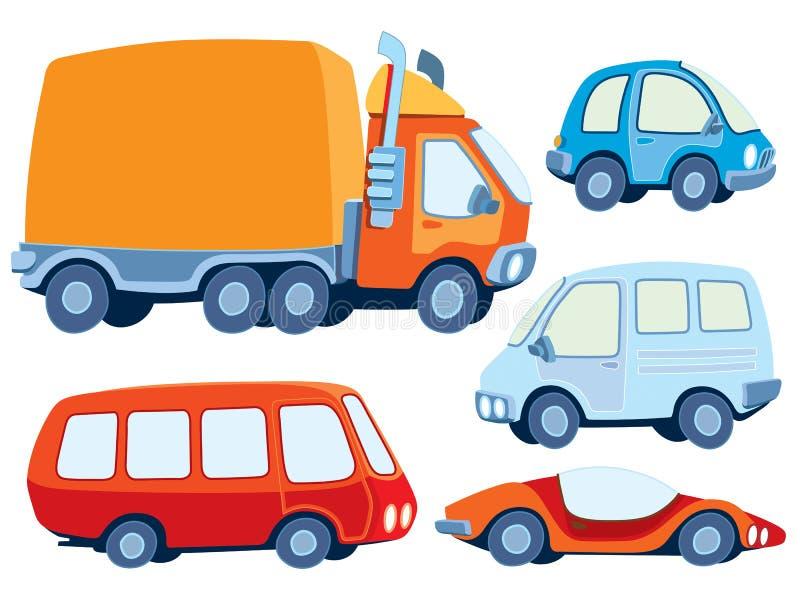 Coleção do carro ilustração stock