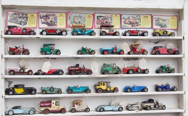 Coleção do carro modelo do vintage fotografia de stock