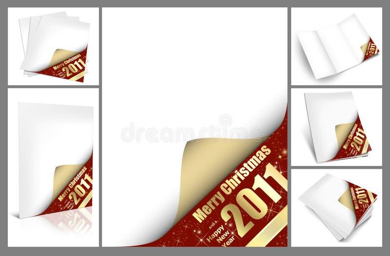 Coleção do cartão de Natal ilustração do vetor