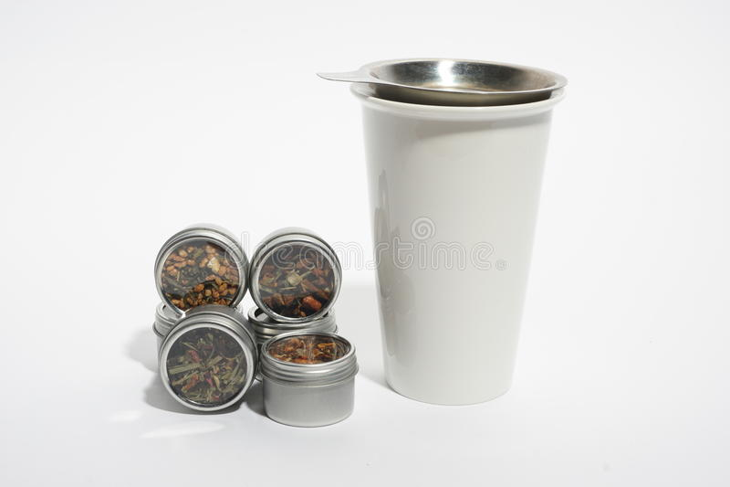 Coleção do chá fotografia de stock royalty free