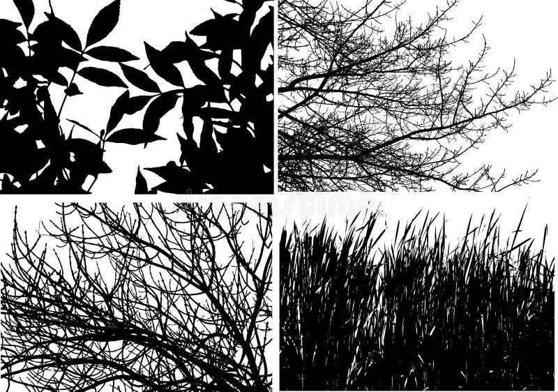 Coleção do clipart do vetor da árvore ilustração do vetor