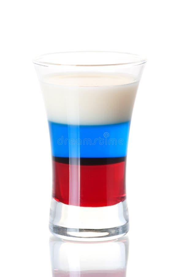 Coleção do cocktail do tiro: Bandeira do russo imagem de stock