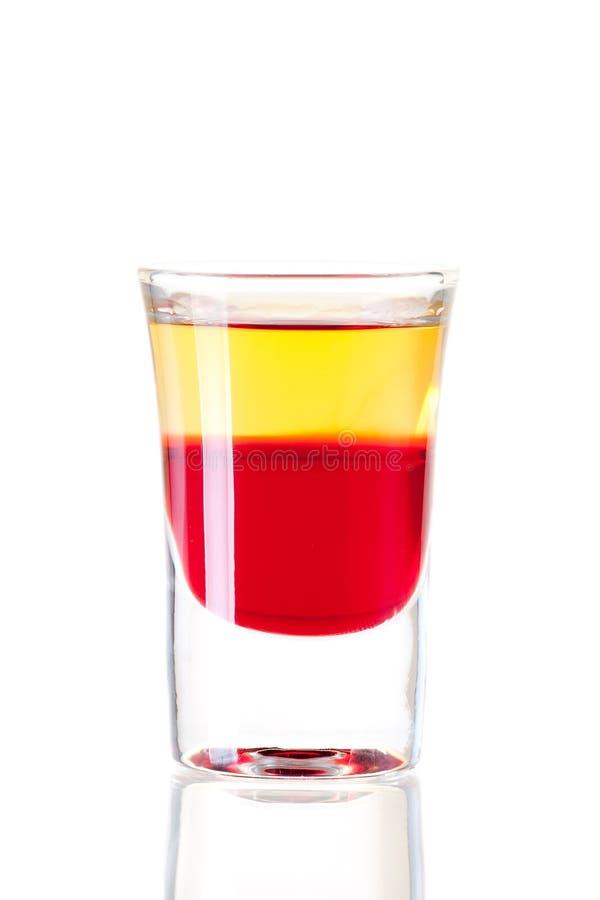 Coleção do cocktail do tiro: Tequila vermelho imagem de stock royalty free