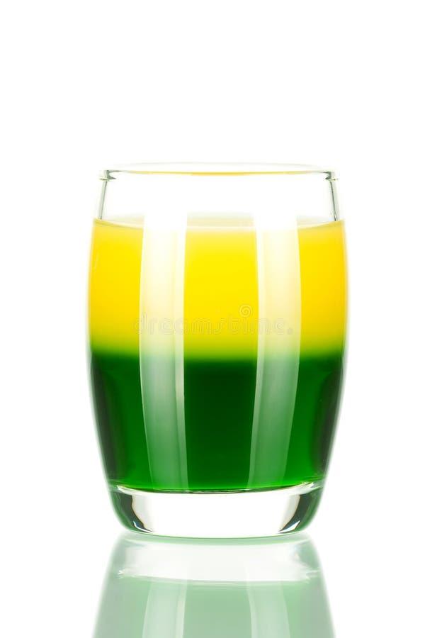 Coleção do cocktail do tiro: Verde e ouro imagens de stock royalty free