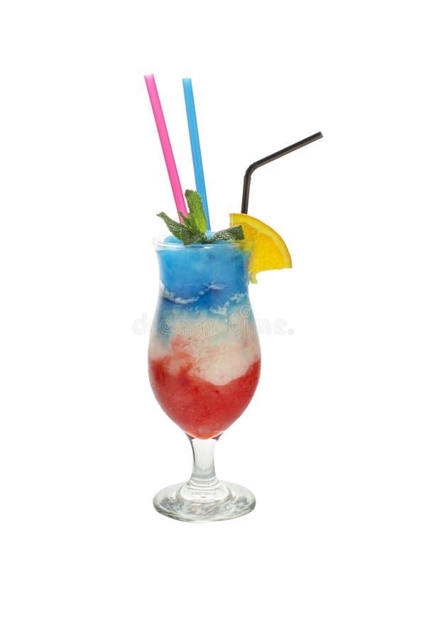 Coleção do cocktail - três mergulharam o cocktail tropical imagens de stock royalty free