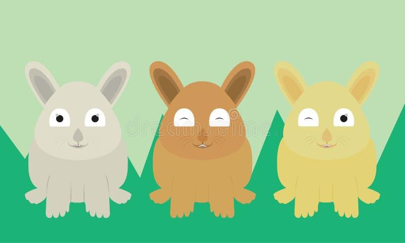 Coleção do coelho do vetor engraçada imagem de stock