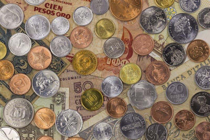 Coleção do dinheiro do mundo foto de stock