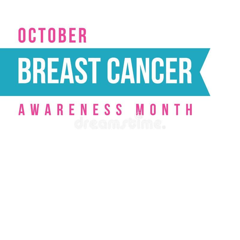 Coleção do estilo do projeto do câncer da mama ilustração royalty free
