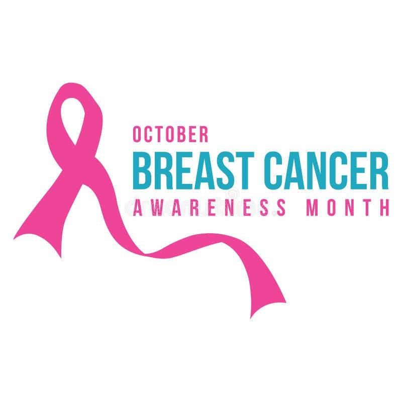 Coleção do estilo do projeto do câncer da mama ilustração do vetor
