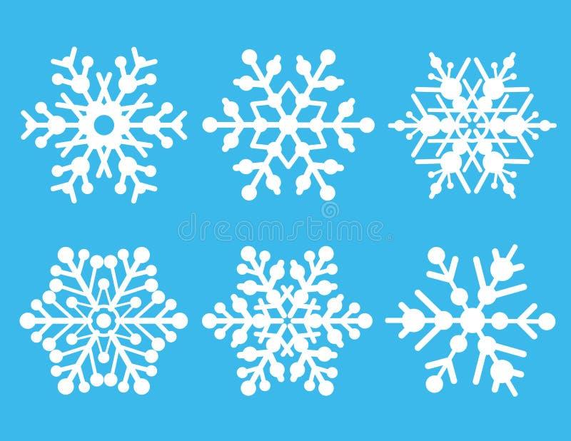 Coleção do floco de neve ilustração royalty free