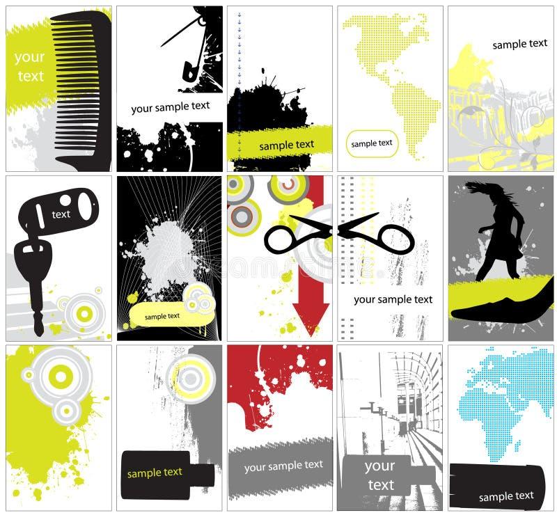 Coleção do fundo abstrato do grunge ilustração stock
