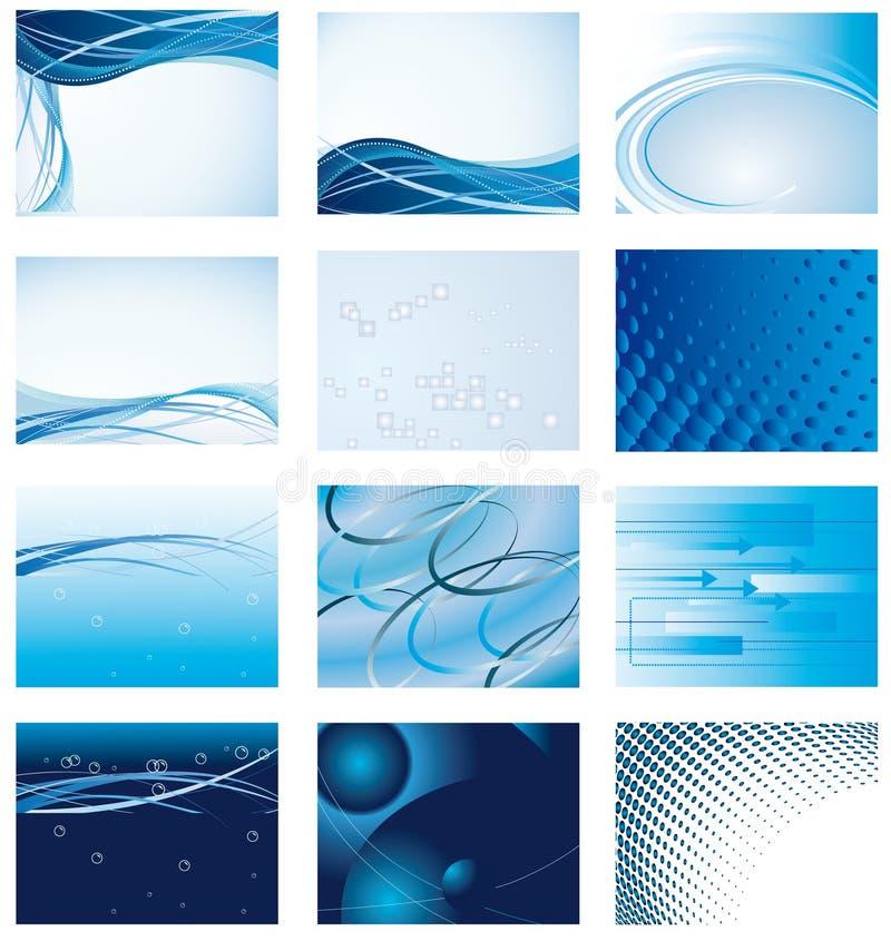 Download Coleção Do Fundo Azul Para O Projeto Ilustração do Vetor - Ilustração de elemento, dobra: 12809779