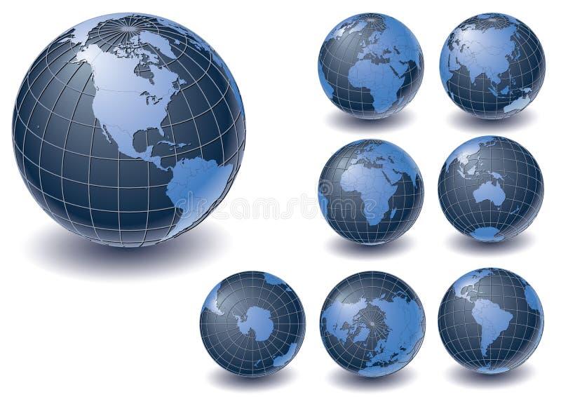 Coleção do globo ilustração royalty free