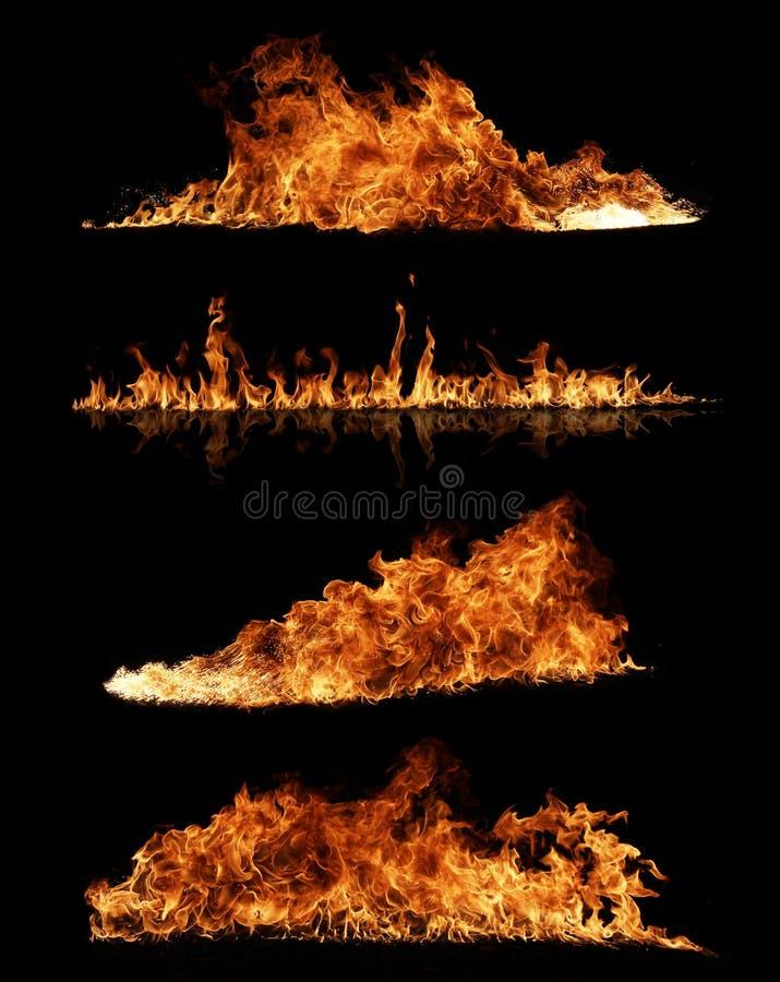 Coleção do incêndio fotos de stock