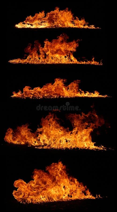 Coleção do incêndio imagem de stock