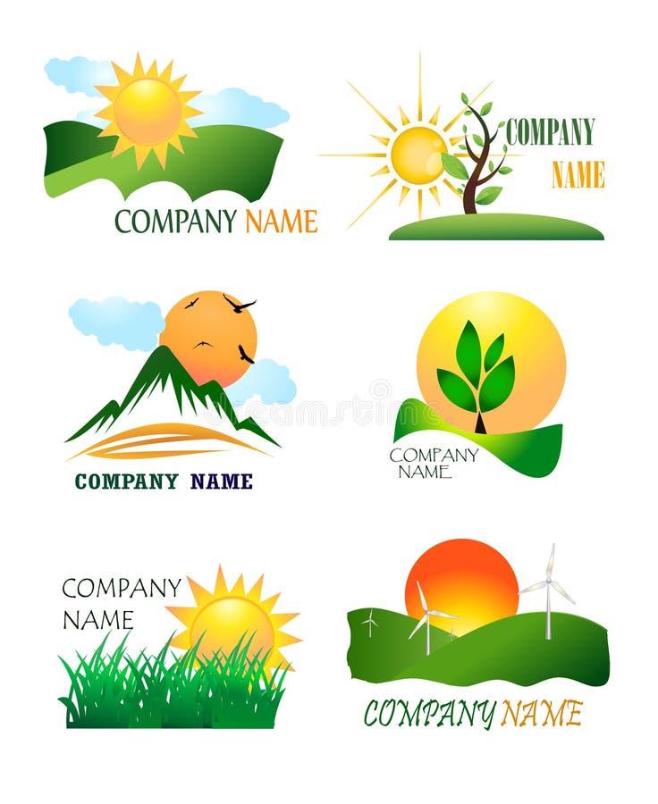 Coleção do logotipo da natureza ilustração do vetor