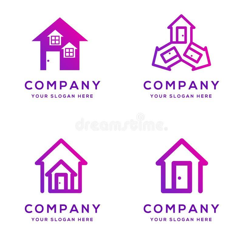 Coleção do logotipo dos bens imobiliários fotos de stock