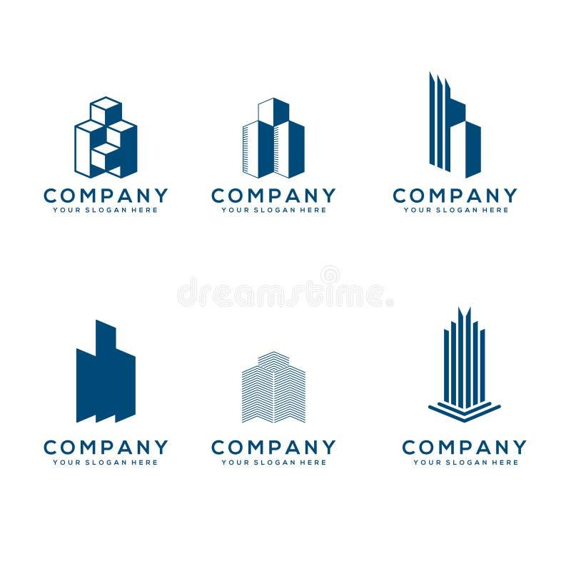Coleção do logotipo dos bens imobiliários imagem de stock