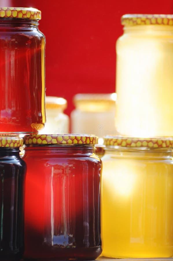 Coleção do mel imagens de stock royalty free