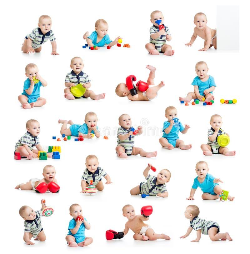 Coleção do menino ativo do bebê ou da criança imagem de stock