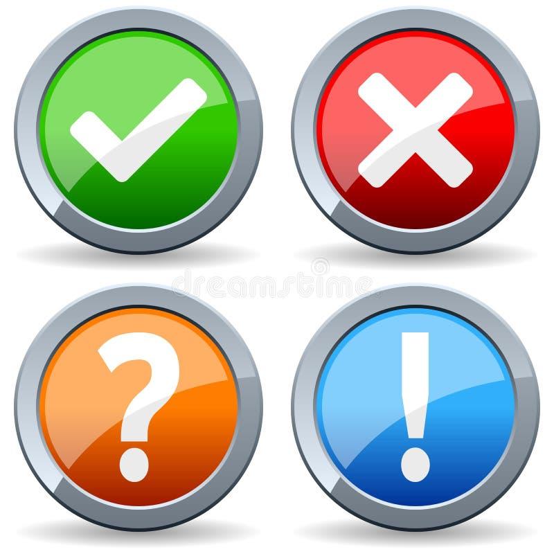 Sim nenhum responda a botões da pergunta ilustração royalty free