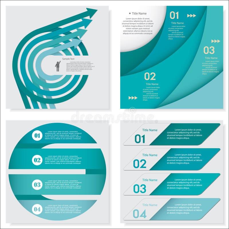 Coleção do molde limpo das bandeiras do número do projeto Vetor ilustração do vetor