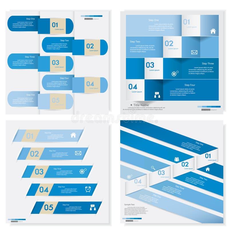Coleção do molde limpo das bandeiras do número do projeto Vetor ilustração royalty free