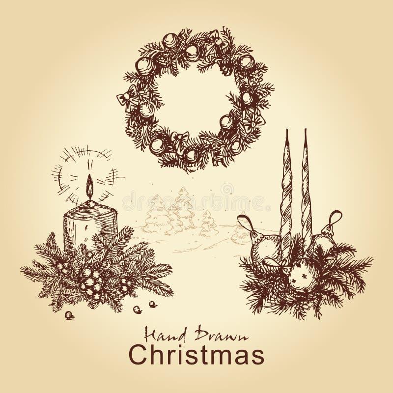 Coleção do Natal ilustração royalty free