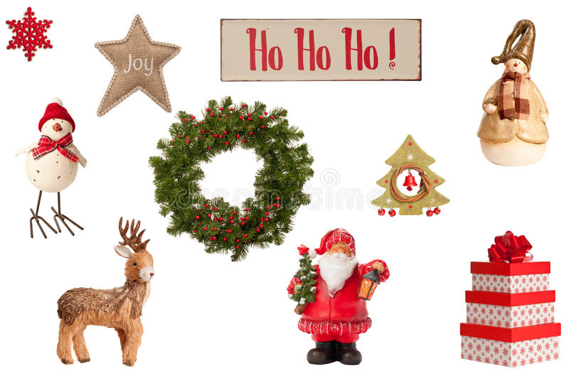 Coleção do Natal foto de stock royalty free