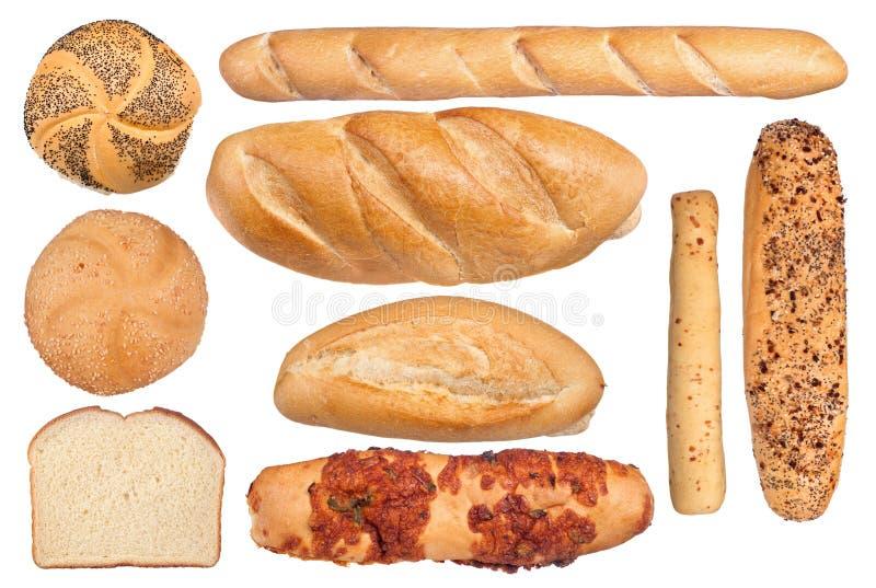 Coleção do pão fotografia de stock