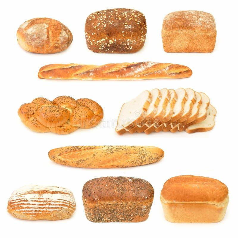 Coleção do pão foto de stock royalty free