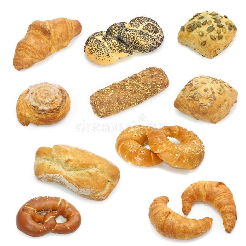 Coleção do pão foto de stock