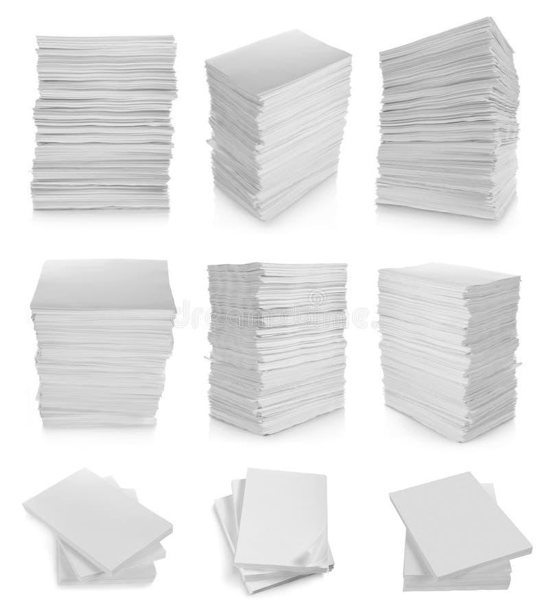 Coleção do papel da pilha fotos de stock