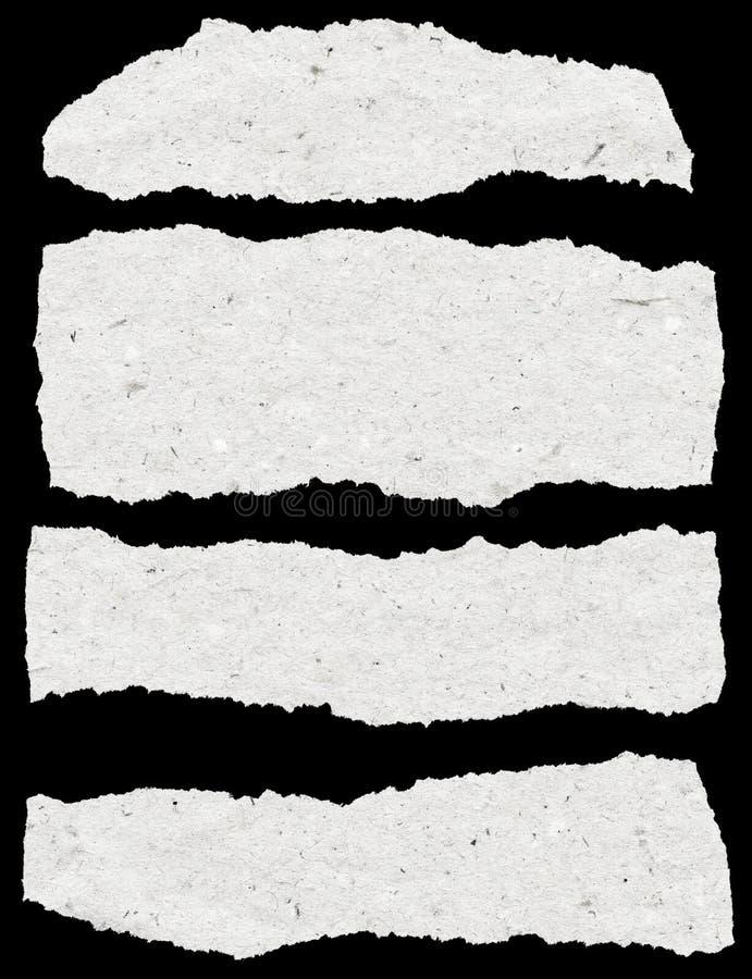 Coleção do papel rasgado branco fotos de stock royalty free