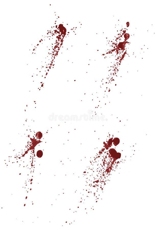 Coleção do sangue ou dos splatters da pintura ilustração royalty free