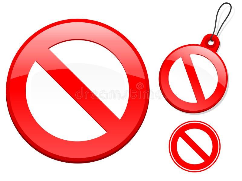 Coleção do sinal da proibição ilustração do vetor
