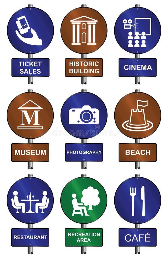Coleção do sinal do entretenimento ilustração royalty free