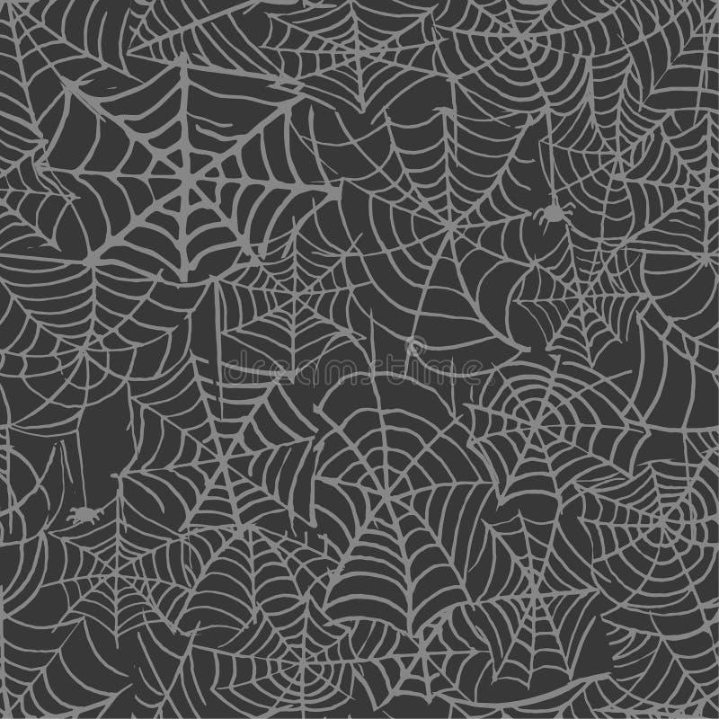 Coleção do teste padrão transparente isolado teia de aranha Spiderweb para o projeto de Dia das Bruxas Elementos da Web de aranha ilustração royalty free