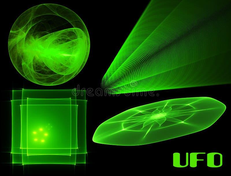 Coleção do UFO ilustração do vetor