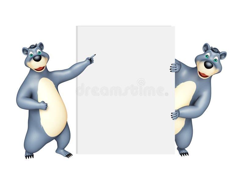 Coleção do urso com placa branca ilustração do vetor