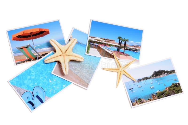 Coleção do verão fotografia de stock royalty free