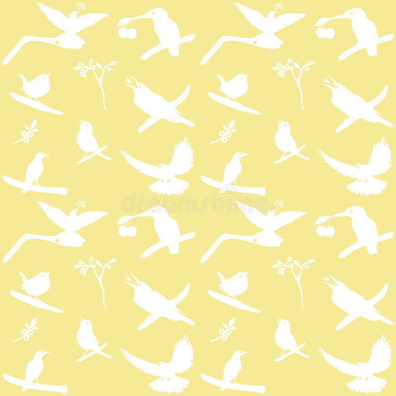 Coleção do vetor de silhuetas do pássaro ilustração stock