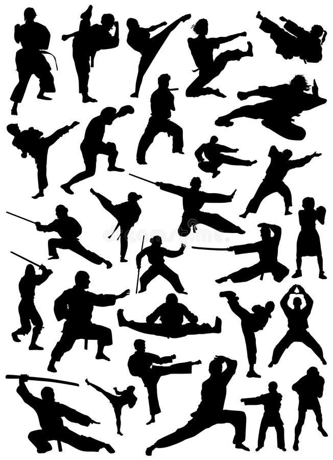 Coleção do vetor do lutador ilustração do vetor
