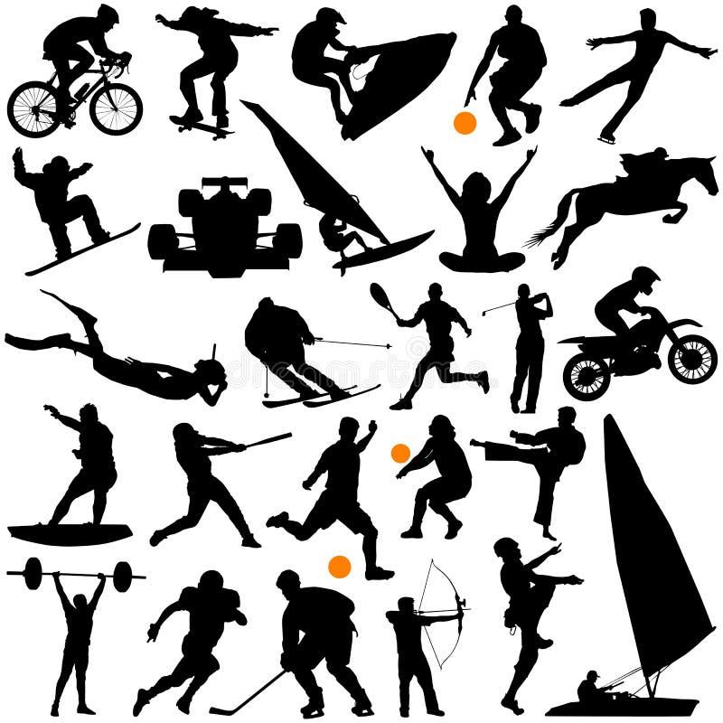 Coleção do vetor dos esportes ilustração do vetor