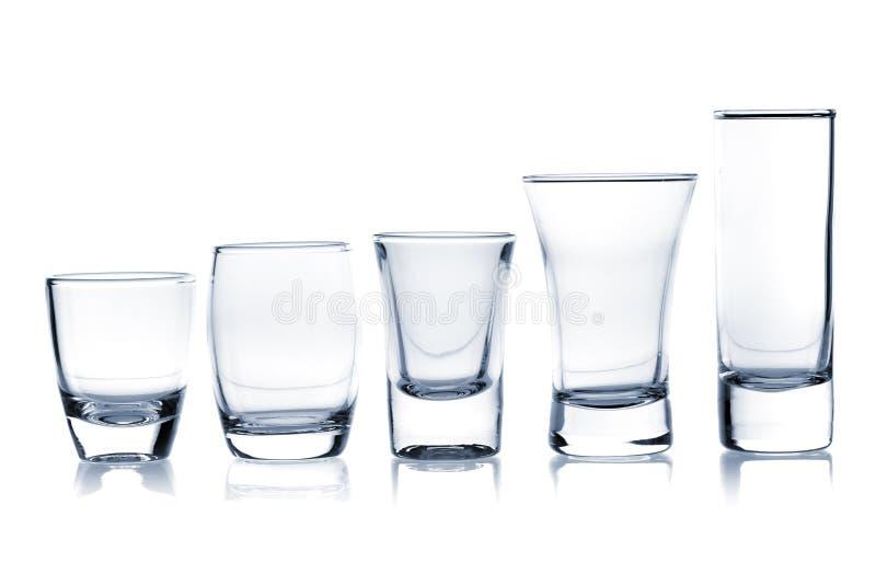 Coleção do vidro de cocktail - tiros fotos de stock royalty free