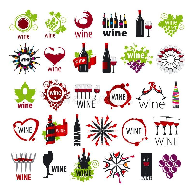 Coleção do vinho dos logotipos do vetor ilustração royalty free