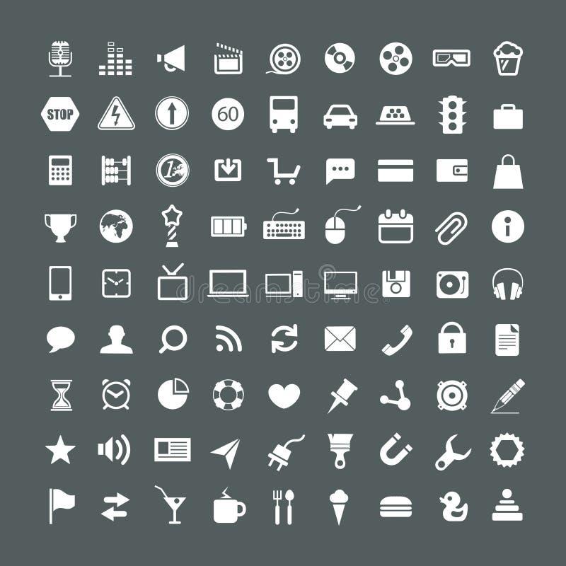 Coleção dos ícones da aplicação web ilustração royalty free