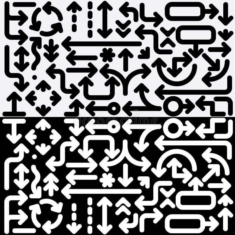 Coleção dos ícones da seta. Vetor pronto para o projeto. ilustração royalty free